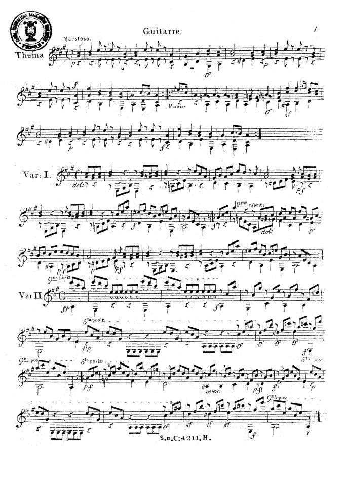 Six Variations-op-2-mauro-giuliani